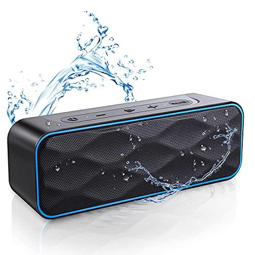 Bluetooth スピーカー ワイヤレススピーカー IPX7防水 風呂 ステレオ ブルートゥーススピーカー ポータブルスピーカー 20W 36時間連続再生 内蔵マイク TWS機能で二台接続可能