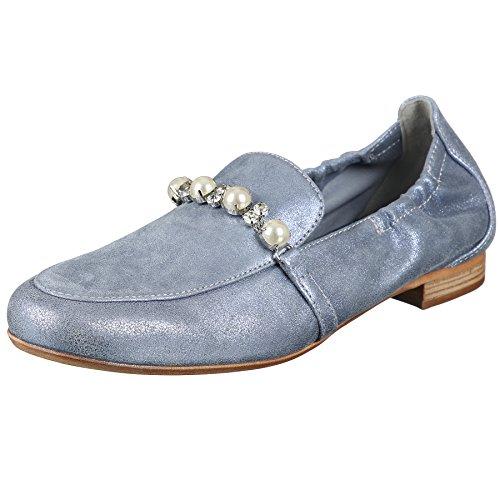 Maripe Slipper in hellblau/Silber mp-26550-168347