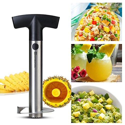 SAVORLIVING Ananasschneider, Schäler und Entkerner Edelstahl Scharfe Klinge, Pineapple Corer Slicer