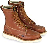 Thorogood Men's 814-4201 American Heritage 8' Moc Toe, MAXwear Wedge Non-Safety Toe Boot, Tobacco Oil-Tanned - 10 D US