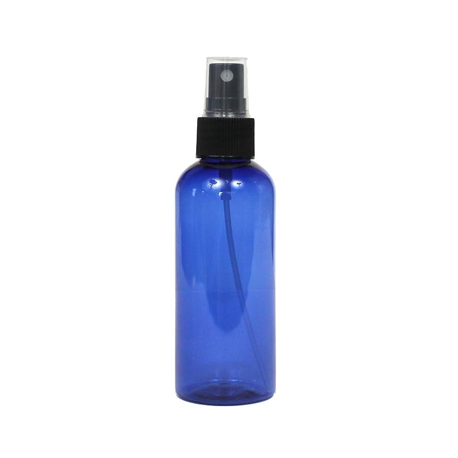 運ぶ強打扱いやすいスプレーボトル 100mL ブルー黒ヘッド1本遮光性青色 おしゃれ プラスチック空容器bu100bk1