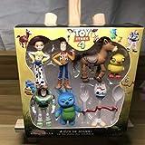 7 Unids / Set Toy Story 4 Figura De Acción De Juguete Woody Buzz Lightyear Jessie Forky Muñeca Colec...