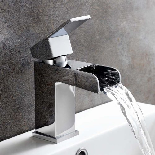 Lunar Bathroom Taps - Chrome Waterfall Basin Mixer Tap ...