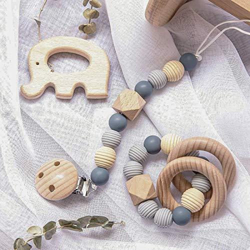 Mamimami Home 3pc Gewinde Bead Baby Silikon Armband Kinderkrankheiten Praktische Schnullerkette Mit Buche Elefant Baby Shower Geschenk