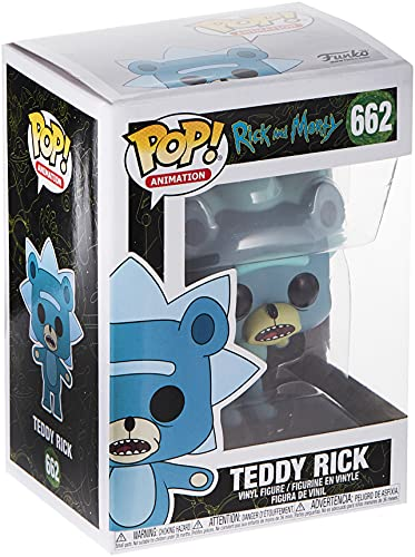Funko! 44250 Animation: Rick & Morty - Teddy Rick w/ Chase (Styles May Vary), Standard, Multicolour