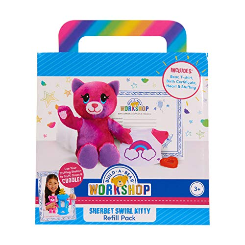 Build A Bear Refill Plush Rainbow Tiger, Multi-Color (74067)