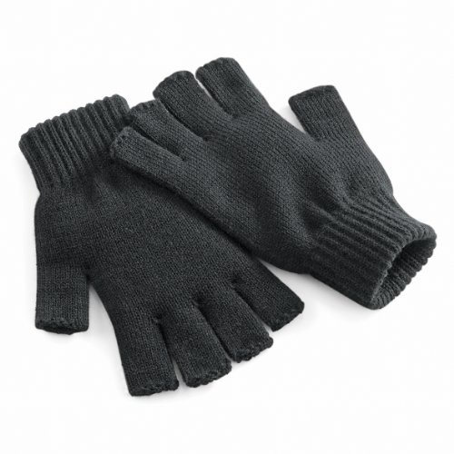 Beechfield Unisex Winter-Handschuhe, fingerlos Small / Medium,Anthrazit