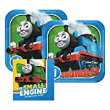 Thomas And Friends Paper Plates and Napkins, 16 Settings, Bundle- 3 Items