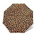 Auto Open and Close, Self Closing, Sun Rain Outdoor Umbrella - Leopard Print