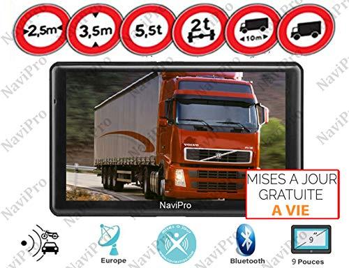 GPS Poids Lourd 9 Pouces Navipro 9XL pour Camion et Bus Cartes et INFO TRAFIC Gratuite a Vie