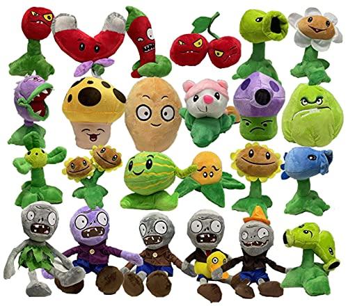 Pianta peluche zombi 24pcs 30cm piante contro piante zombie giocattoli di peluche bambole di peluche ripiene per bambini regali per bambini