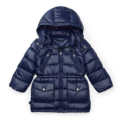 Ralph Lauren Polo Girls Quilted Hooded Down Coat (6) French Navy