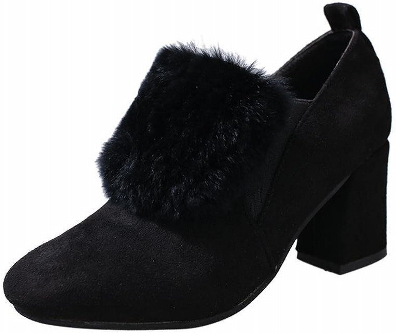 DXD Herbst und Winter Britische Mode Wilde Schuhe Füe Schuhe Rau mit Wilden War Dünn Temperament High Heels Weiblich