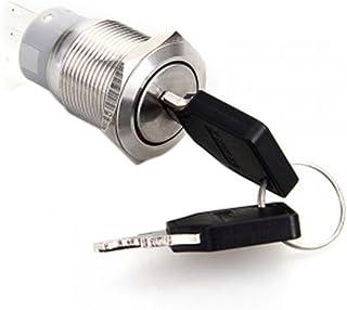 Luwu Store Zündschlüssel aus Edelstahl, 19 mm, für Auto, Boot, Auto, Silber, Mini