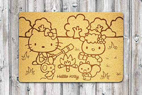 StarlingShop Hello Kitty - Felpudo para puerta con diseño de Hello Kitty
