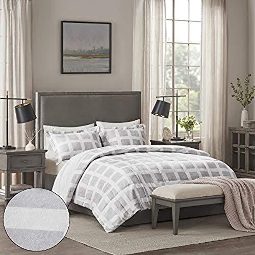 Full/Queen Mills Plush Comforter Set - Gray