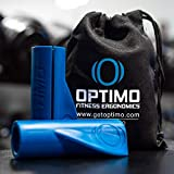 Optimo Fitness Ergonomics Anatomic Bar Grips | Bodybuilding Weight Lifting | Wing Shape Design Best for Gym Barbell & Dumbbell Press Exercise Equipment (1.6 Inch Outer Diameter)