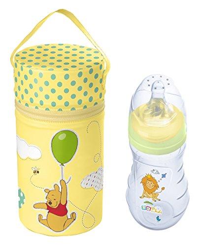 Boîte de conservation au chaud XXL Disney Winnie l'ourson jaune + biberon Premium 250 ml à partir de 0 mois