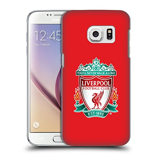 Head Case Designs Offizielle Liverpool Football Club Rot 1 Crest 1 Harte Rueckseiten Huelle kompatibel mit Samsung Galaxy S7