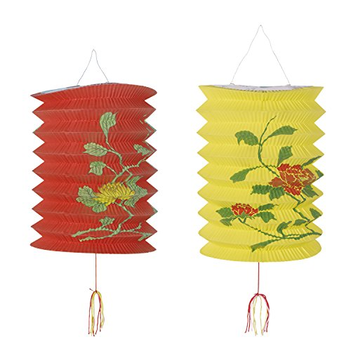 Generique - Lanternes chinoises rouge et jaune