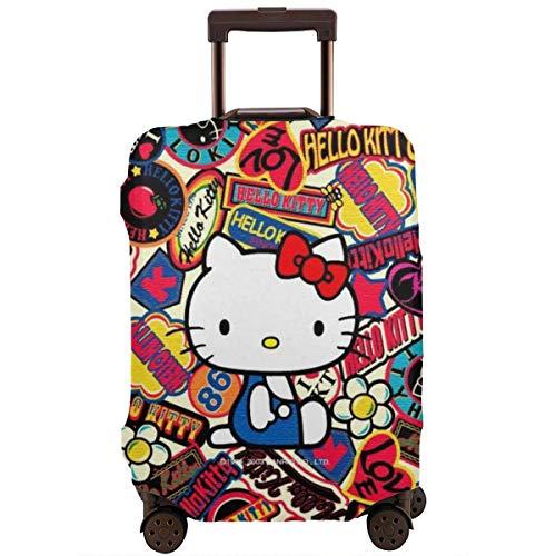 Funda para equipaje de viaje, diseño de Hello Kitty, color anime