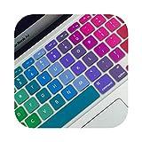 Housse de protection colorée en silicone pour clavier d'ordinateur portable de 11', 13', 15' pour MacBook Air Pro Retina-15'