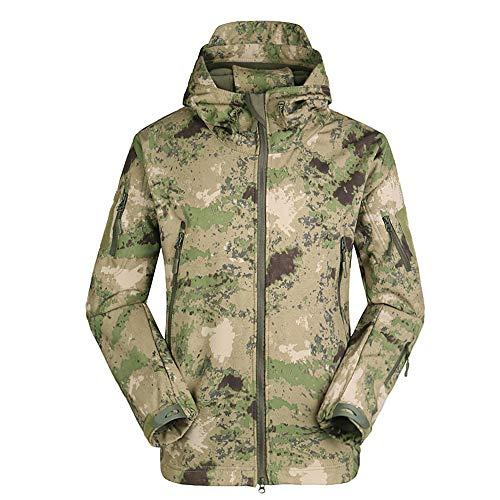 LiGG Herren Softshelljacke Camouflage Jagdjacke Wasserdicht Winddicht Military Funktionsjacke Winter Warm Innenfutter Regenjacke Skijacke