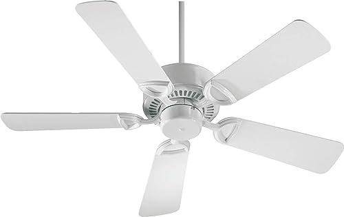 """Quorum International 42"""" 5-Blade Estate Ceiling Fan - White - 43425-6"""
