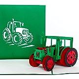 Cartolina 3D pop-up 'trattore - Trecker' – Biglietto di auguri di compleanno, biglietto d'invito, buono e buono regalo, come decorazione per la fattoria e idea regalo per compleanno dei bambini