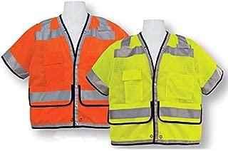 3A Safety - ANSI Class III Fire-resistant Heavy Duty Surveyor Vest, size: 3X-large, color: Lime