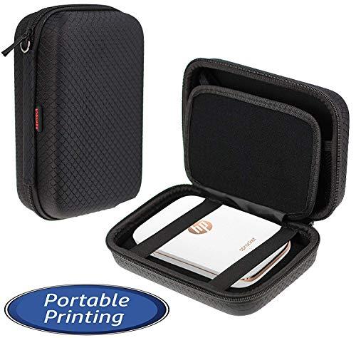 Navitech Schwarzer tragbarer/Taschen Hülle Drucker/Fall-Fester/Einband für die Huawei Pocket Photo Printer (Netztasche für Kabel und Druckpapier)