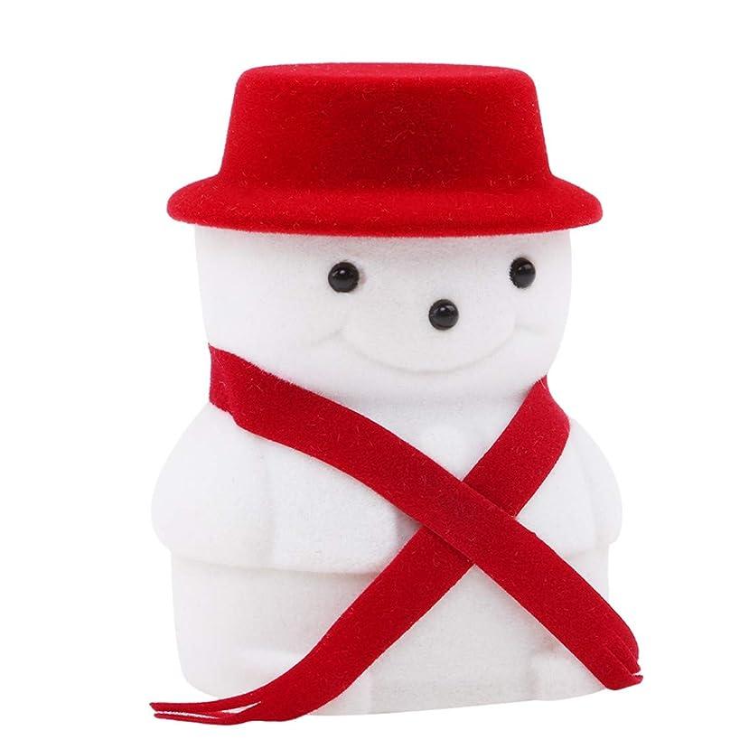 周り破滅メンバーLUXWELL(ラクスウェル) ジュエリーボックス リングケース 指輪入れ 指輪ケース アクセサリーケース かわいい 雪だるま 記念日 誕生日 贈り物 記念日 プレゼント