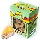 exxens accendifuoco ecologico a spirale 24pz accenditori naturali di legno e cera naturale per camino e barbecue ideale per accensione di carbone, carbonella, legna, tronchetto