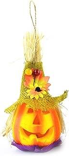 Zoylink Halloween Lantern Pumpkin Lamp Luminous Scarecrow Lantern Flash Show Props