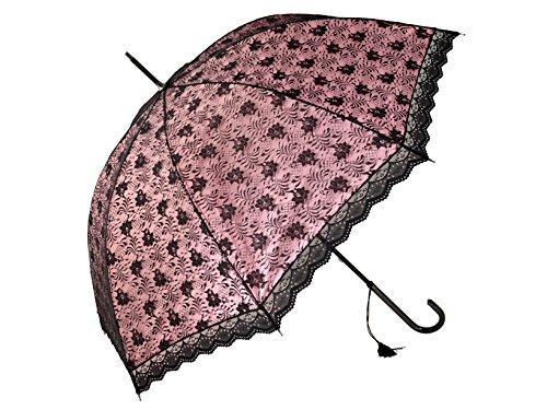H & H 8374300 Lolita Umbrella Mechanische, 90 cm, schwarz / pink