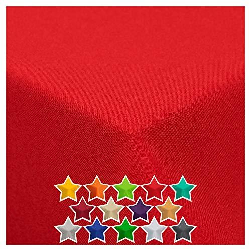 StoffTex Tischdecke Tischläufer Tischtuch Tischwäsche Tischdekoration Tafeltuch (Rot, 140 x 240 cm)