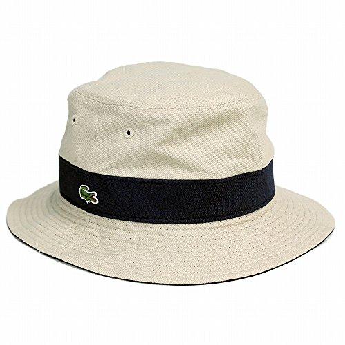 帽子/メンズ/ハット/レディース/サファリハット/帽子/ラコステ/LACOSTE/リバーシブル/アウトドア/ぼうし/ベージュ