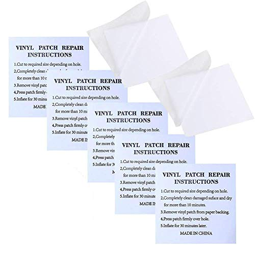 QWEPU 20pcs Reparación Parches, Parches Plástico, Reparación PVC,Parche Reparacion Piscina Parche Inflable Autoadhesivos Kit para Piscinas Inflables Camas de Agua Juguetes, 7 cm