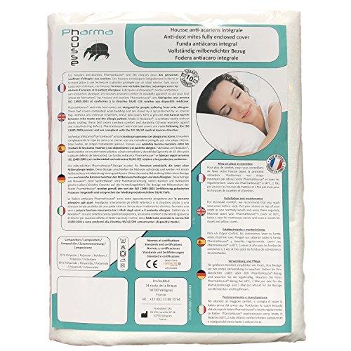 Housse Anti-acariens intégrale pour Matelas 1 Personne - Dispositif médical - Garantie 10 Ans - Housse barrière sans Aucun Traitement ni plastification