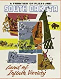 South Dakota Land of Infinite Variety: Vintage Travel Poster Cover | Jan 1, 2021 to Dec 31, 2021 | Full Year Calendar Page | 8.5 X 11 Inches | 120 Pages | Inspirational Quotes & Pages for Notes