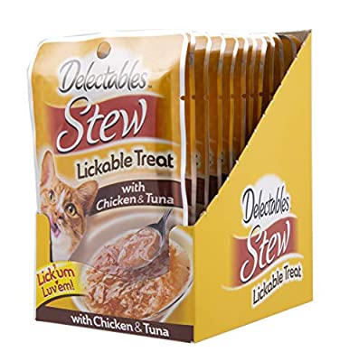 Hartz Delectable Stew Lickable Treat, Chicken and Tuna,1.4 Oz, Pack of 12