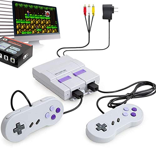 Classic Game ConsolesRetro Game Console with Builtin 660 NES Games and 2 NES Classic ControllerHD AV OutputChildhood Classic GameChildren GiftBirthday Gift Happy Child Memories