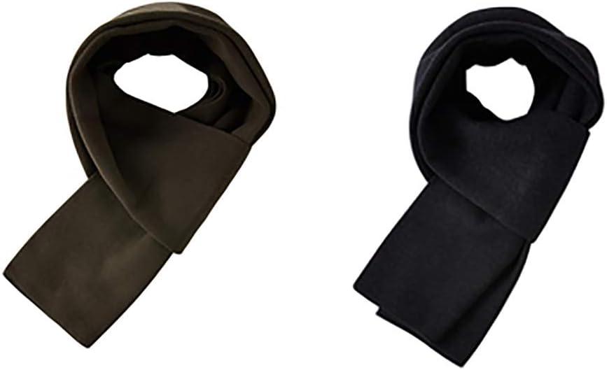 Scarves Herren Premium Wool Scarf Set Men Winter Solid Colors Scarves Luxurious Cashmere Feel Warm Soft Classic Elegant Winter Schal (Color : Black+Green)