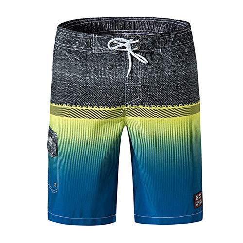 Trajes de baño Hombre nadar pantalones cortos pantalones cortos pantalones natación troncos de natación en seco rápido traje de baño bermudas tabla de surf traje de baño plateado nuevo