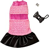Barbie Clothes - Pink and Black Glitter Dress