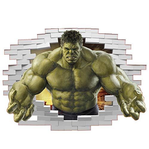 Oulensy Superhéroes Dormitorio AvengersIncredible Hulk Etiqueta de la Pared del Arte del Vinilo Home Kids Boy PosterThor Nursery Decor Decal