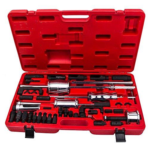 maXpeedingrods Diesel Injector Puller, 40 Pieces Auto Truck Slide Hammer Bearing Puller for Diesel Engines, Diesel Injector Extractor Master Kit