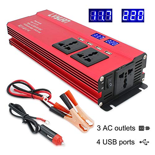 Cantonape Power Inverter 1000W/2000W Peak DC 12V to AC 230V 240V Converter...