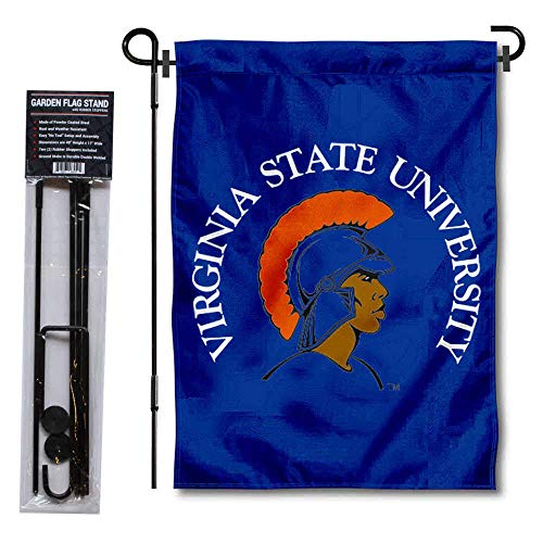 College Flags & Banners Co. VSU Trojans Garden Flag and Flag Stand Pole Holder Set