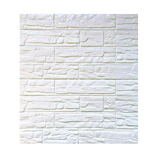 GAODA 10Pack 3D Brick Wall Stickers Self-adhesive Wallpaper Faux Brick Textured Effect Background For Wall Decoration Dormitory Restaurant(Color:10PCS)